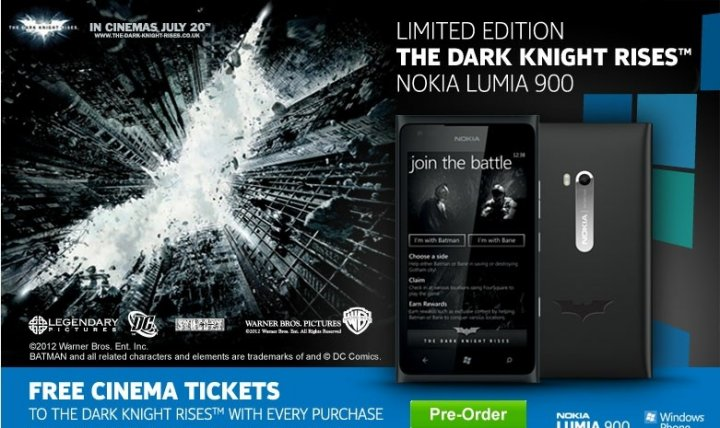 nokia lumia 900 batman limited edition handset