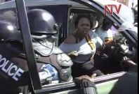Ugandan TV footage of Ingrid Turinawe's breast being groped by police officer