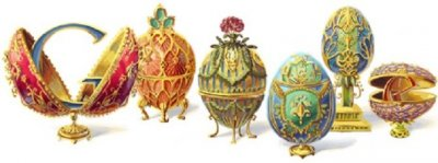 Google Doodle Celebrates Peter Carl Faberg 166th Birthday By Displaying Faberg Eggs