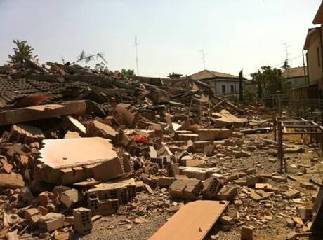 Damage in town of Cavezzo, near Bologna, close to epicentre of a 5.8-magnitude quake