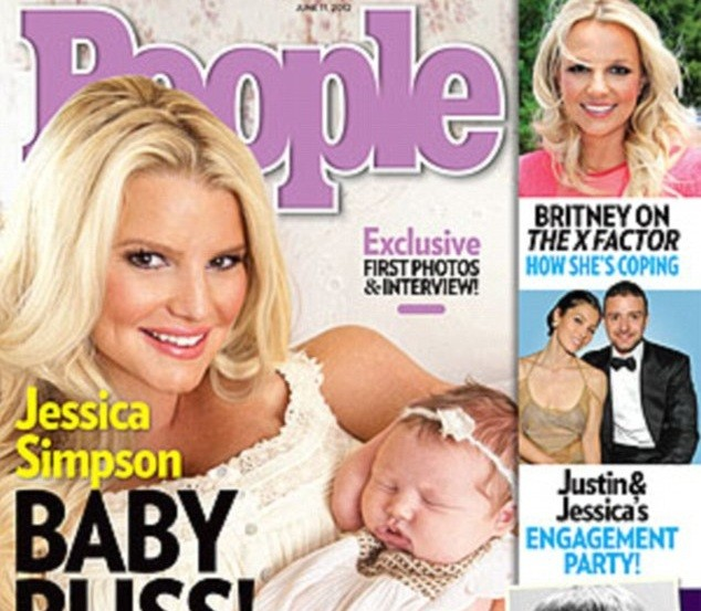 Singer Jessica Simpson introduces her daughter Maxwell to the world