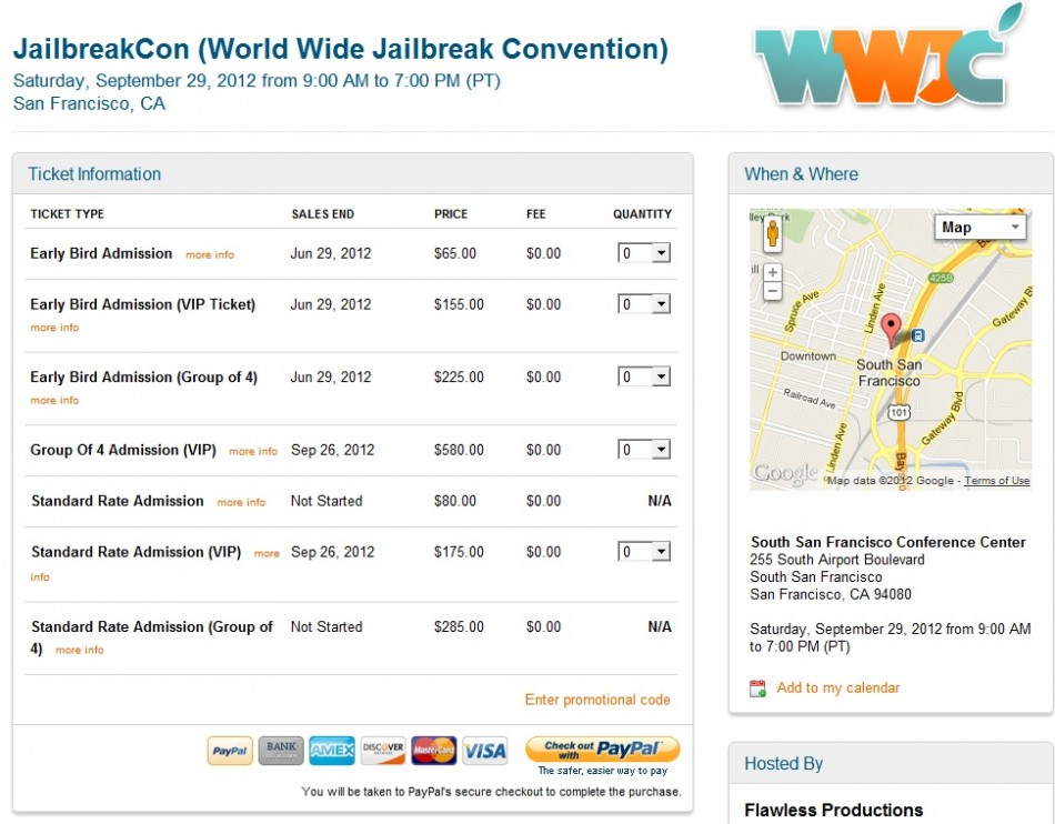 World Wide JailbreakCon 2012