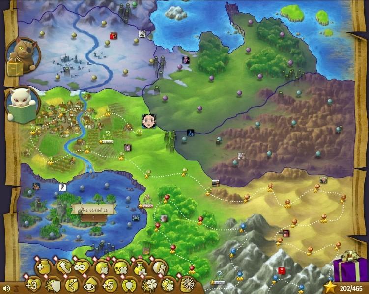 Bubble Witch Saga screen king map