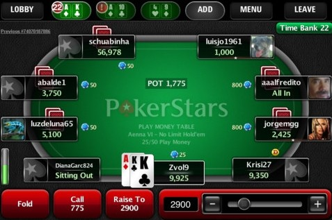 PokerStars Apple iOS iPhone