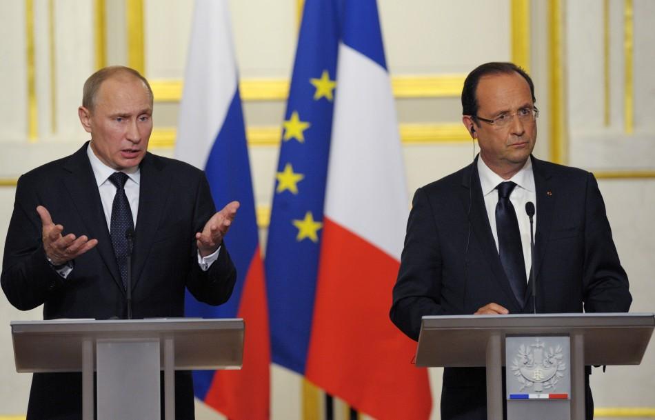 Putin and Hollande