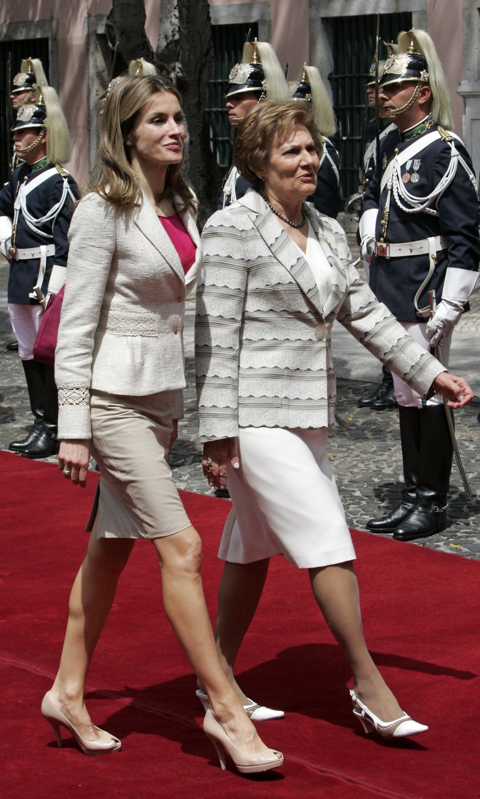 Spain039s Glamorous Princess Letizia Takes Portugal in a Storm of Fashion