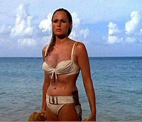 Ursula Andress' portrayal of Honey Ryder is often remembered as the first Bond Girl in Dr No