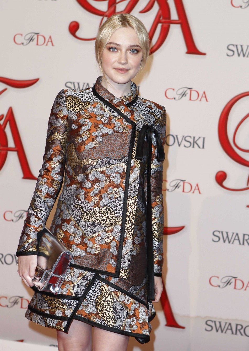 Actress Fanning arrives to attend the 2012 CFDA Fashion Awards in New York