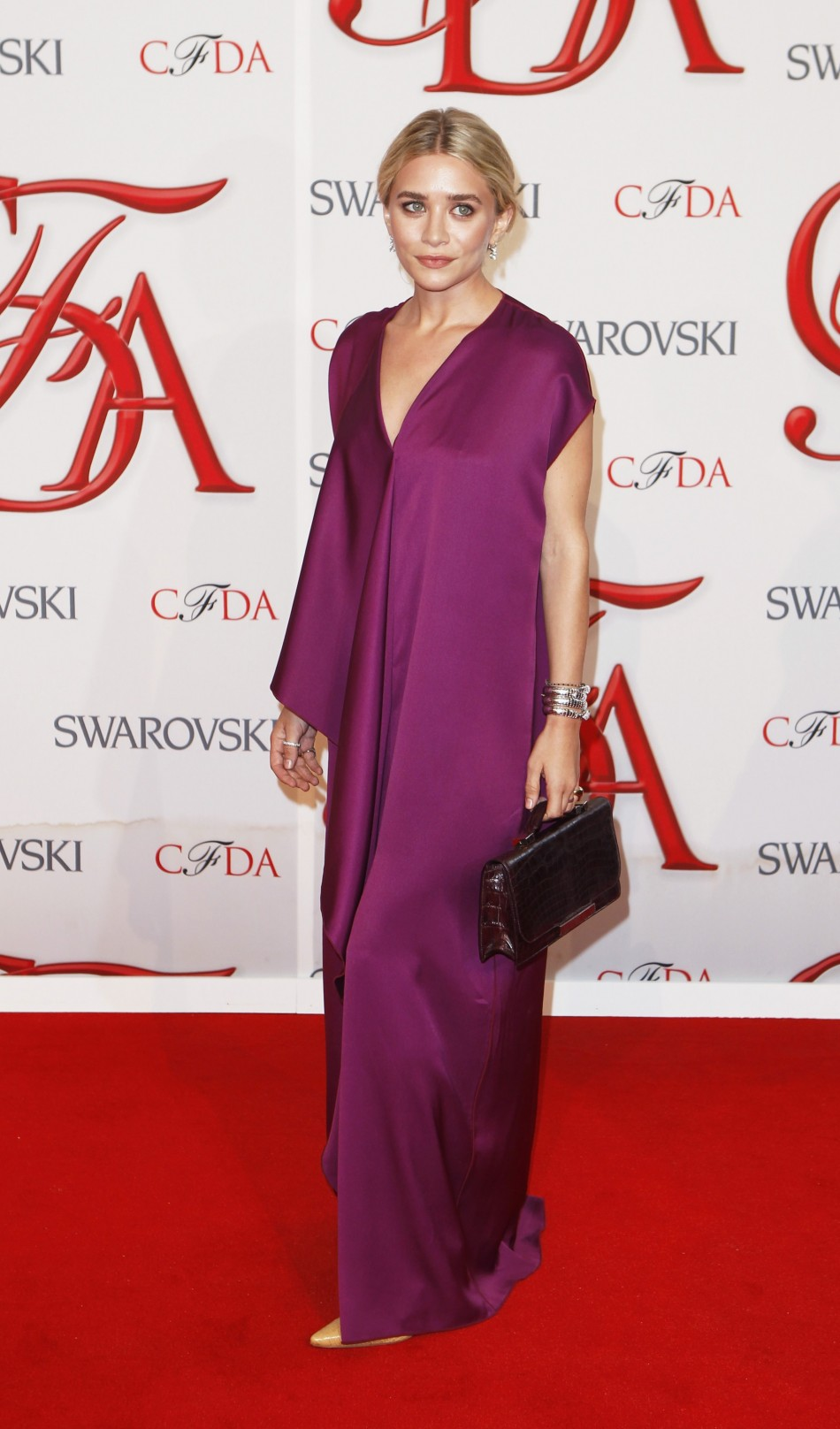Actress and designer Ashley Olsen arrives to attend the 2012 CFDA Fashion Awards in New York