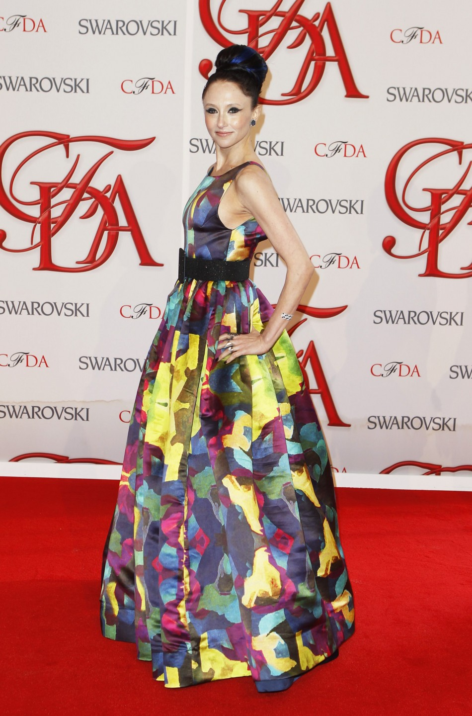 Designer Bendet arrives to attend the 2012 CFDA Fashion Awards in New York