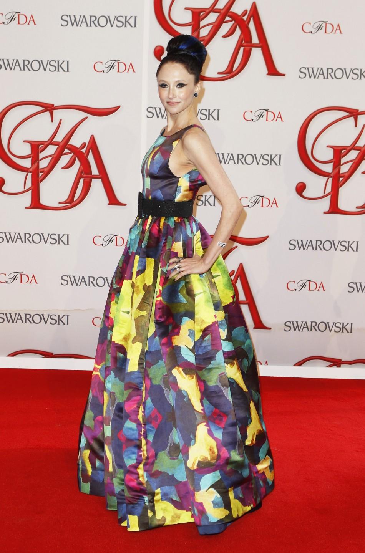 Designer Bendet arrives to attend the 2012 CFDA Fashion Awards in New York