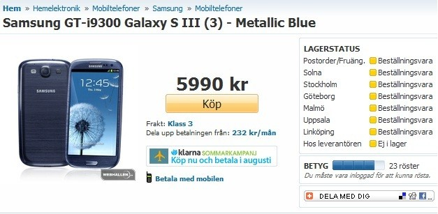 Samsung Galaxy S3 Pebble Blue Model Turns Into Metallic Blue?