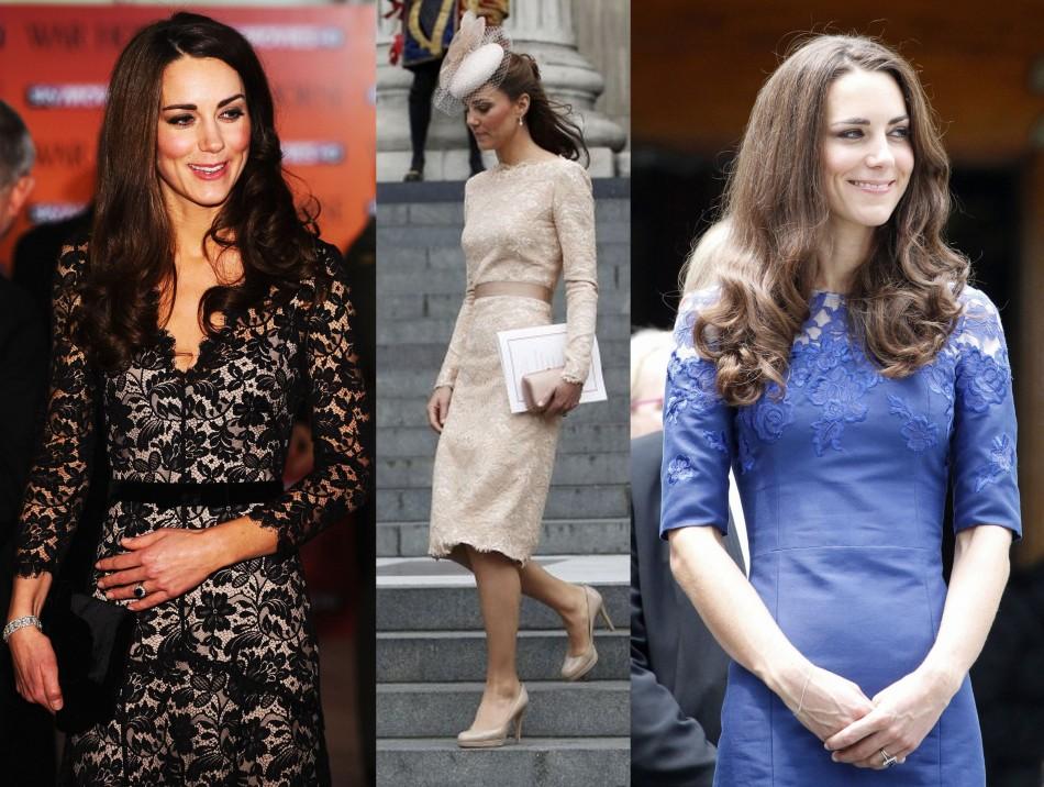 Kate middleton blue lace dress canada