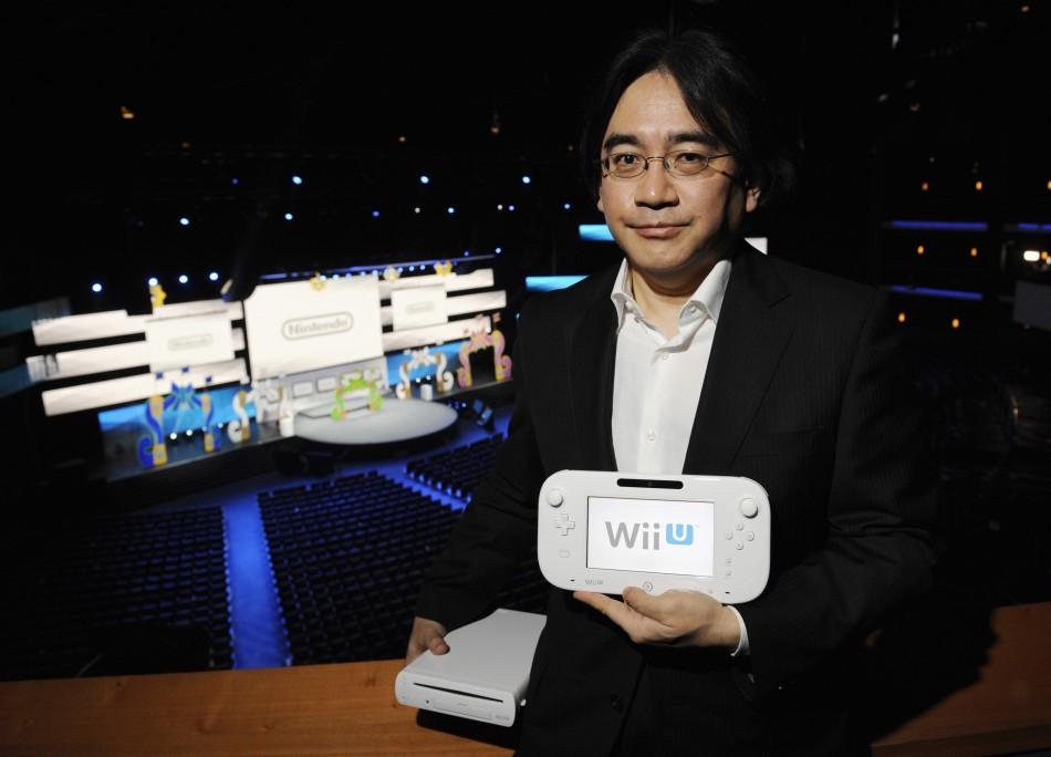 Nintendo President With The Wii U GamePad
