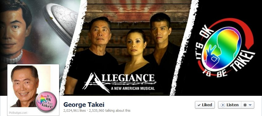 George Takei Facebook Fan Frenzy Closes Merchandise Website tshirt