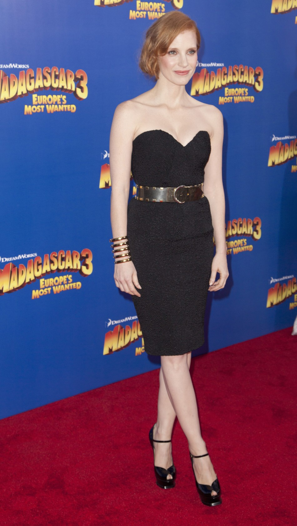 Cast member Jessica Chastain arrives for the premiere of quotMadagascar 3 Europes Most Wantedquot in New York