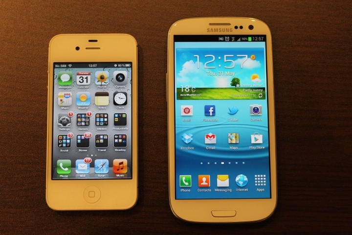 Galaxy S3 and iPhone