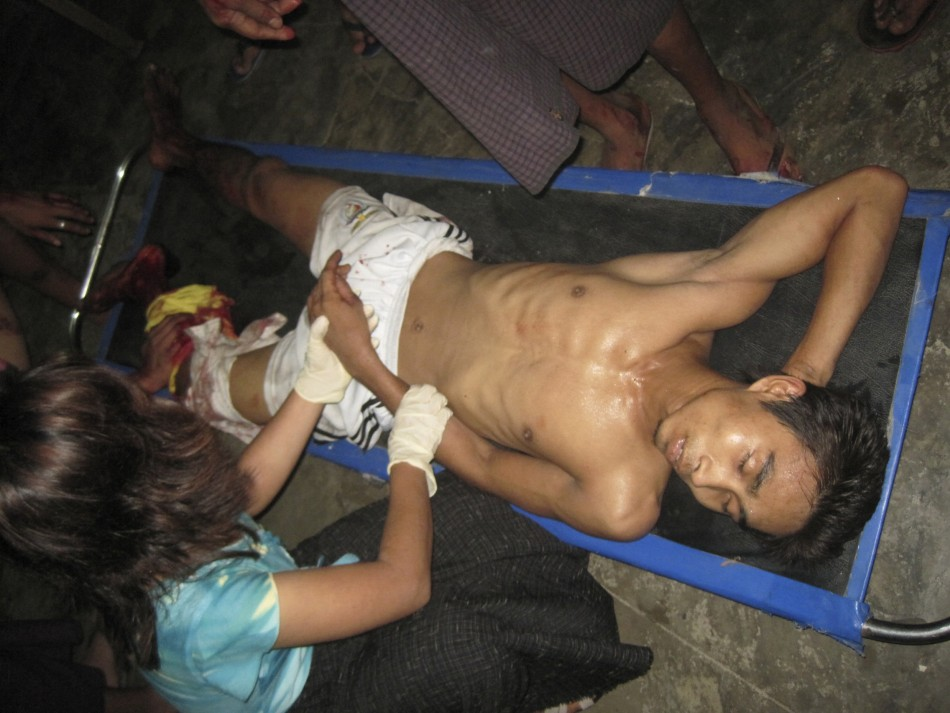 Injured Man At Burma's Sittwe General Hospital