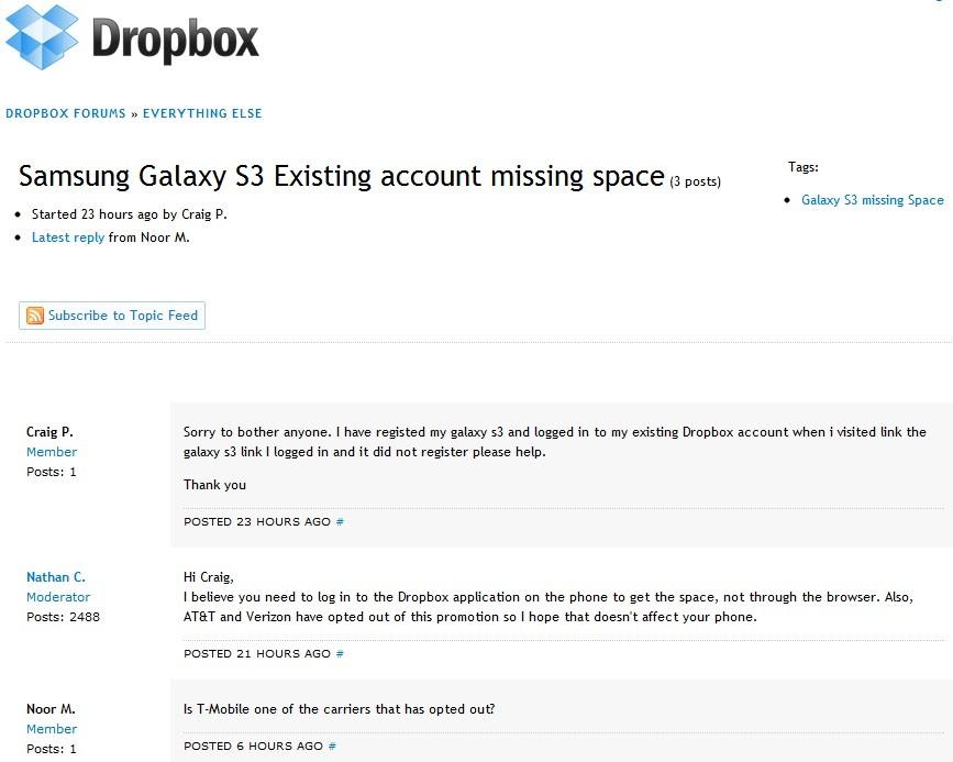 Dropbox Forum
