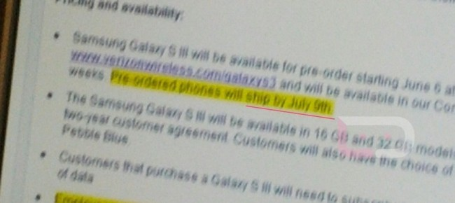 Samsung Galaxy S3 at Verizon: Pre-Order the Smartphone and Keep the Unlimited Data Plan