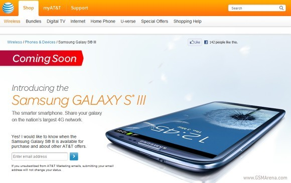 Samsung Galaxy S3 Release on AT