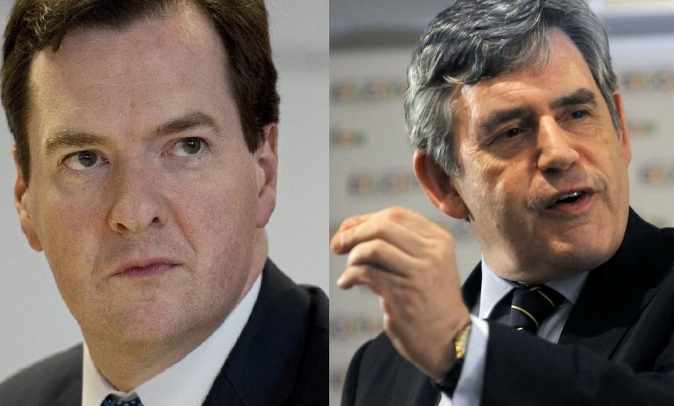 George Osborne Gordon Brown