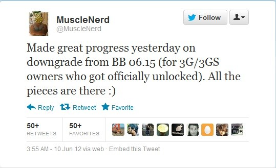 MuscleNerd's New Jailbreak Tool: Downgrade iPhone 3G/3GS from 06.15.00 to Earlier Basebands