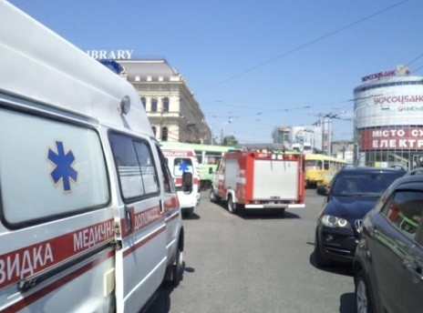 An explosion on a tram in the Ukrainian city of Dnipropetrovsk injured nine people.