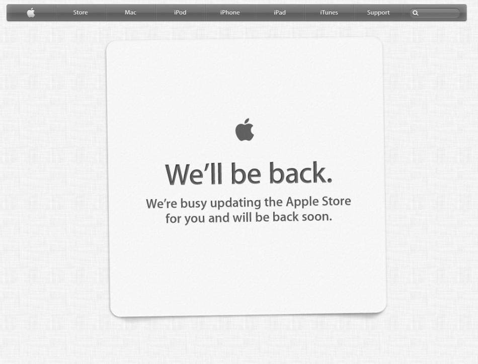 Apple WWDC 2012 Apple Store goes offline