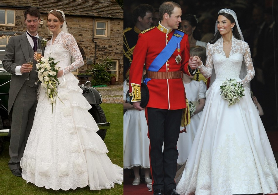 Third time lucky bride sarah clark wears gran 39 s kate for 3rd time wedding dresses