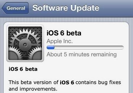 iOS 6 Beta WWDC 2012