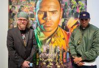 Chris Brown and artist Ron English