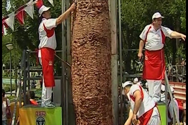 One tonne Doner Kebab in Ankara, Turkey.