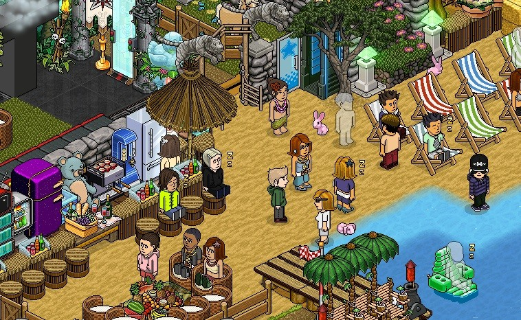 Habbo hotel has more than 250 registered users (Screengrab)