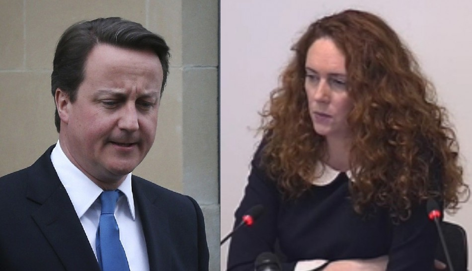 David Cameron and Rebekah Brooks
