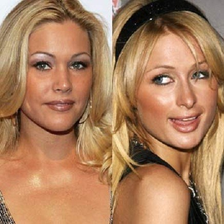 Shanna Moakler and Paris Hilton