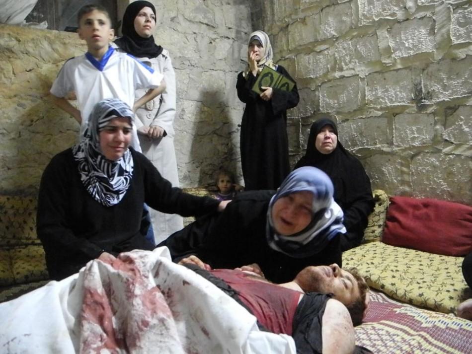 A civilian killed in the violence in Maarrat Al-Numan, Idlib