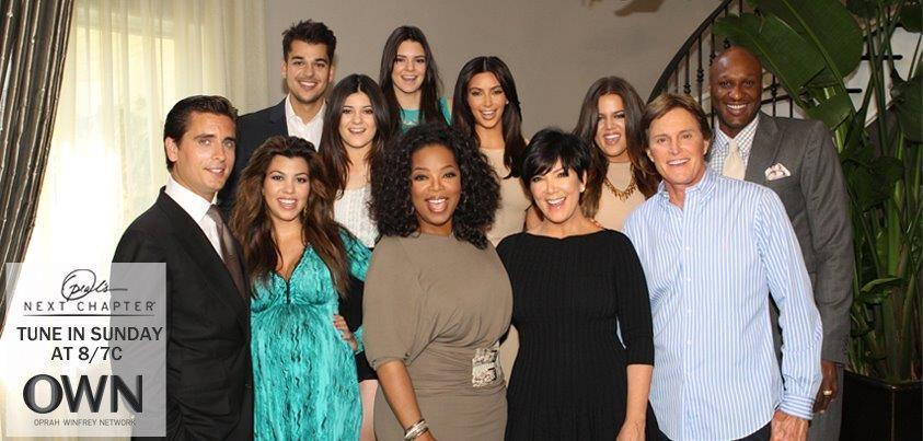Oprah Winfrey with the Kardashians