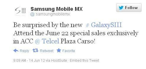 Samsung Galaxy S3: Exclusive Night Sale to be Held by Telcel on 22 June