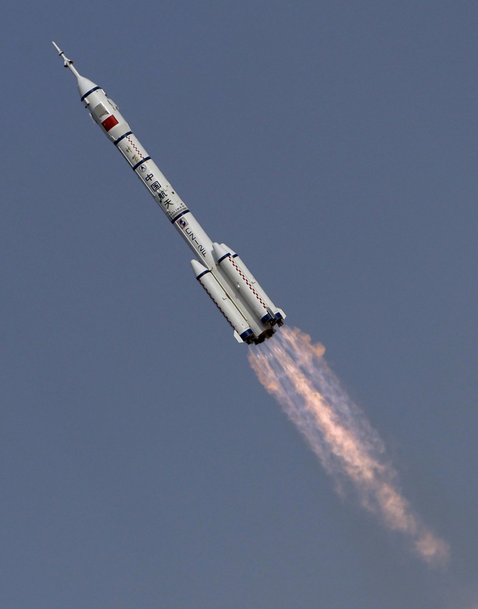 The Long March II-F rocket loaded with Shenzhou-9
