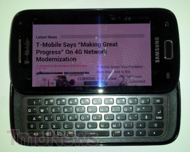 T-Mobile Samsung Galaxy QWERTY Android Smartphone Spotted [PHOTOS]