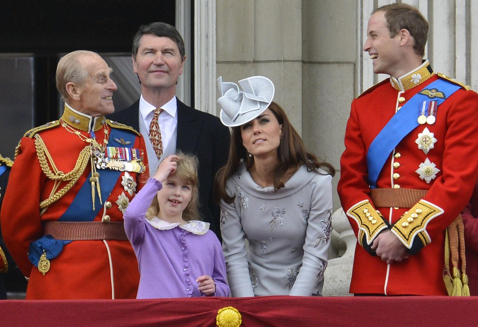 Members of Britain039s Royal family stand on the balcony of Buckingham Palace following the Trooping the Colour ceremony in central London