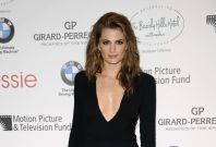 Castle's Beckett, Stana Katic, attends the 100th anniversary of The Beverly Hills Hotel in Beverly Hills