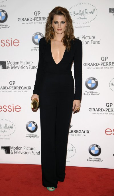 Castles Beckett, Stana Katic, attends the 100th anniversary of The Beverly Hills Hotel in Beverly Hills