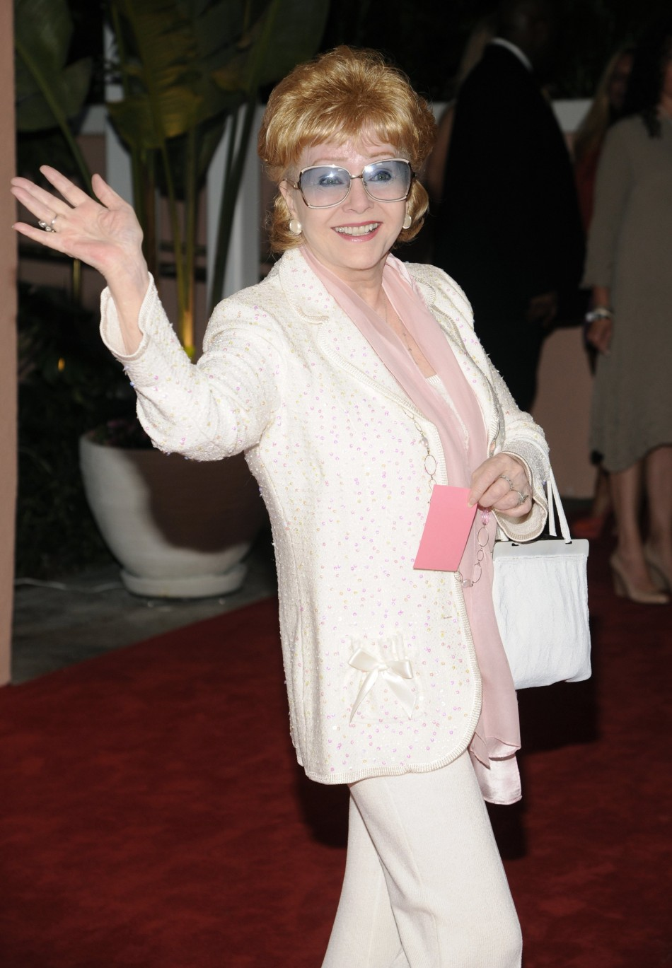 Debbie Reynolds attends the 100th anniversary of The Beverly Hills Hotel in Beverly Hills