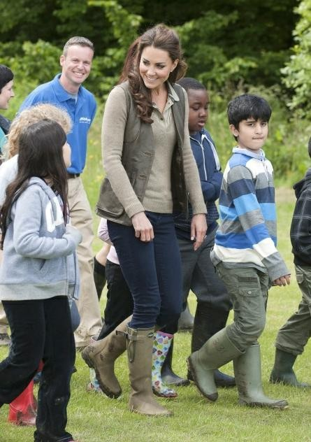 Kate Middleton Spends Time with Kids in Muddy Forest and Answers What It's Like to be Princess