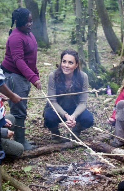 Kate Middleton Spends Time with Kids in Muddy Forest and Answers What Its Like to be Princess