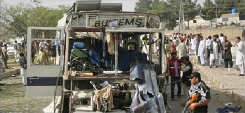 Car bomb explodes near university bus in Quetta, Pakistan, killing four and injuring 40 others