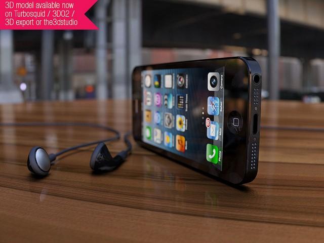 iPhone 5 - Black earphones