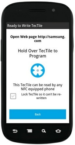 Samsung TecTiles: Automate Functions of Your Smartphone via NFC